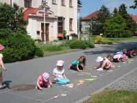 Malovali jsme na chodník