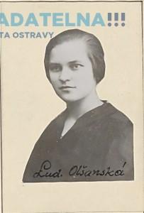 Ludmila Olšanská v r. 1927 [str. 211 – 224]