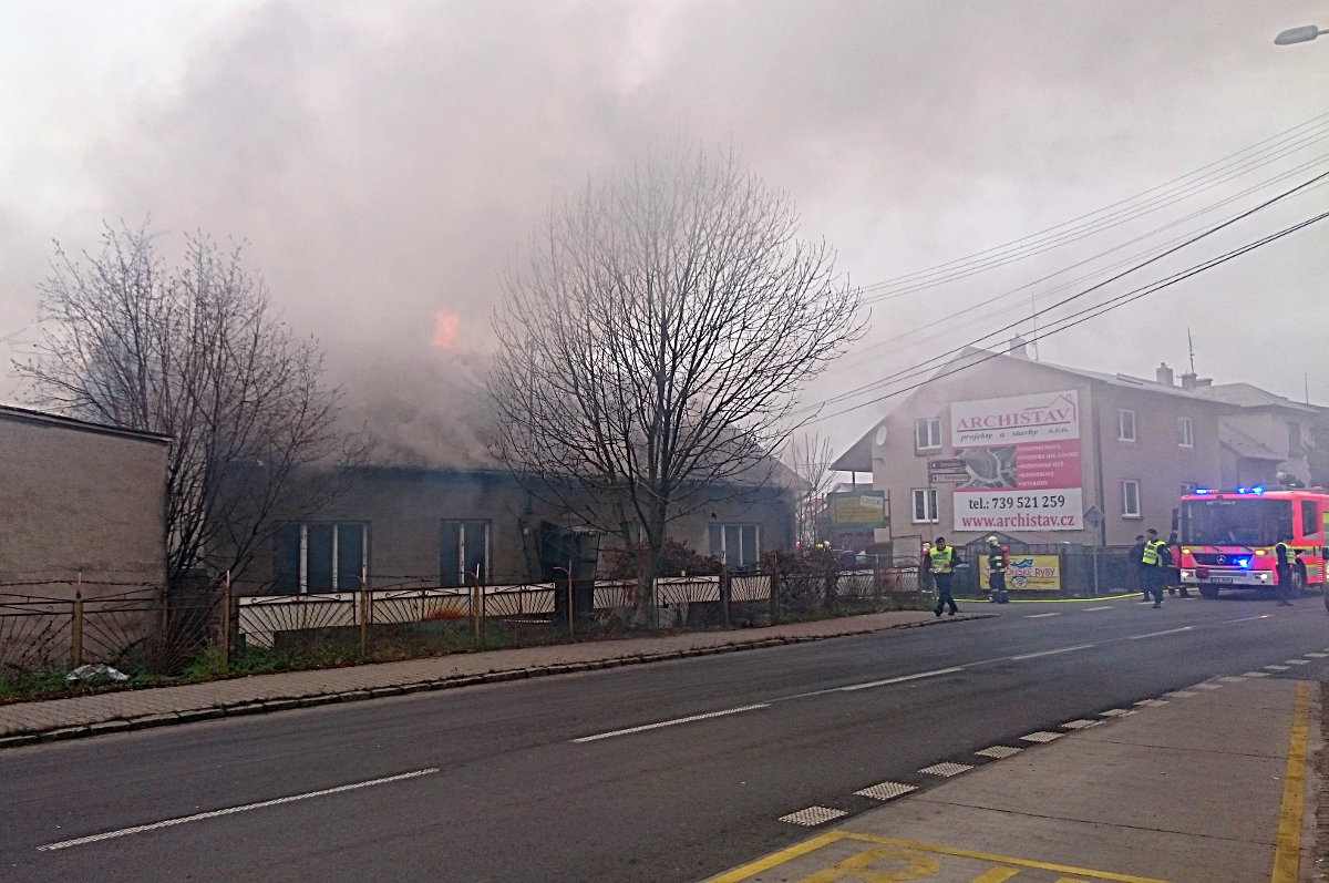 Požár domu vHrabové