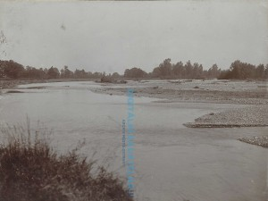 Pohled na nový tok Ostravice po povodni [str. 232]