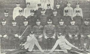 Členové sboru dobrovolných hasičů v Hrabové v roce 1911