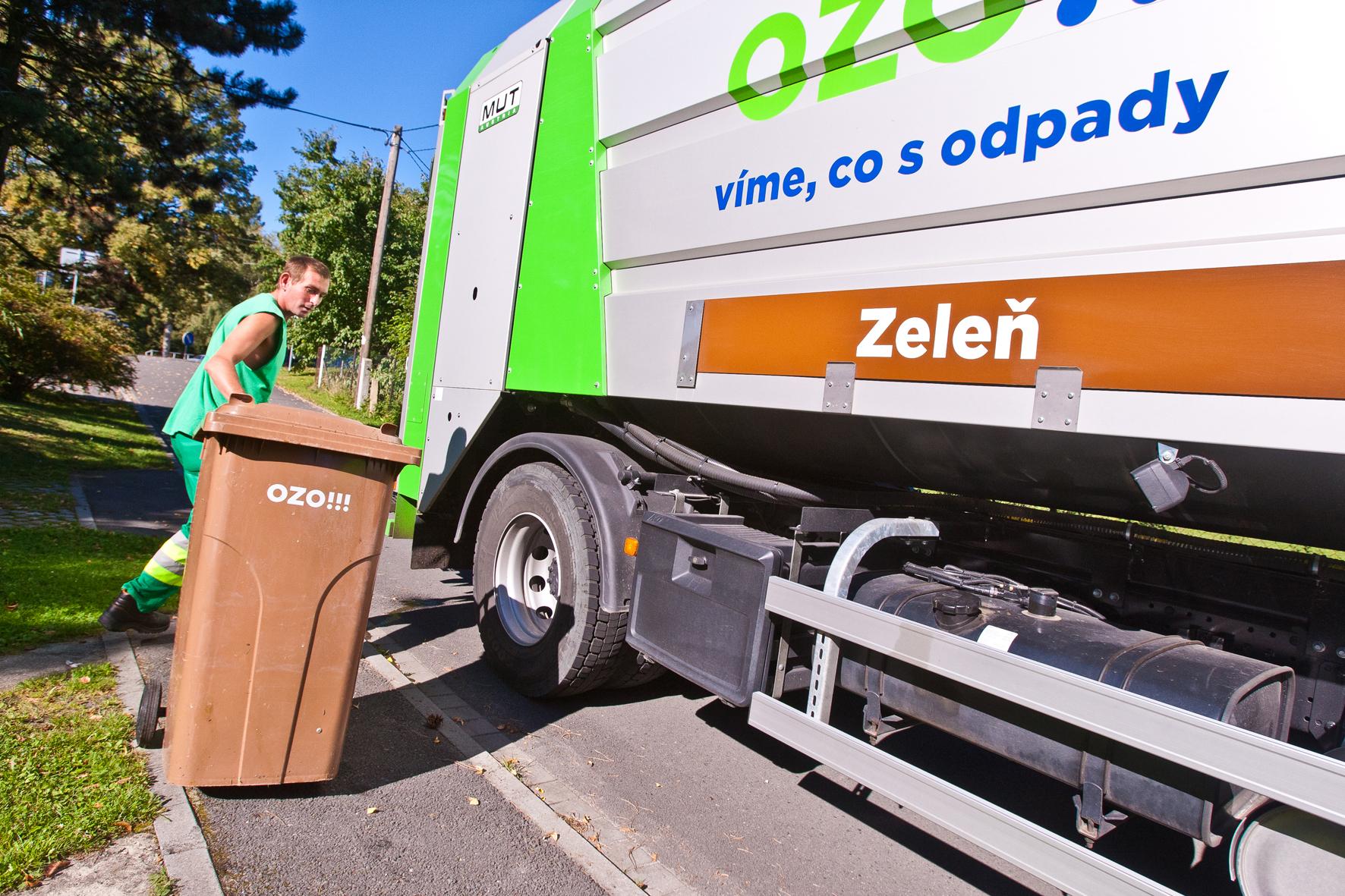 Zimní svoz bioodpadu vOstravě-Hrabové