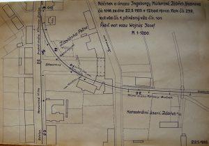 Náčrtek nehody z 22. května 1935. Foto: Archiv Vítkovice, a. s.