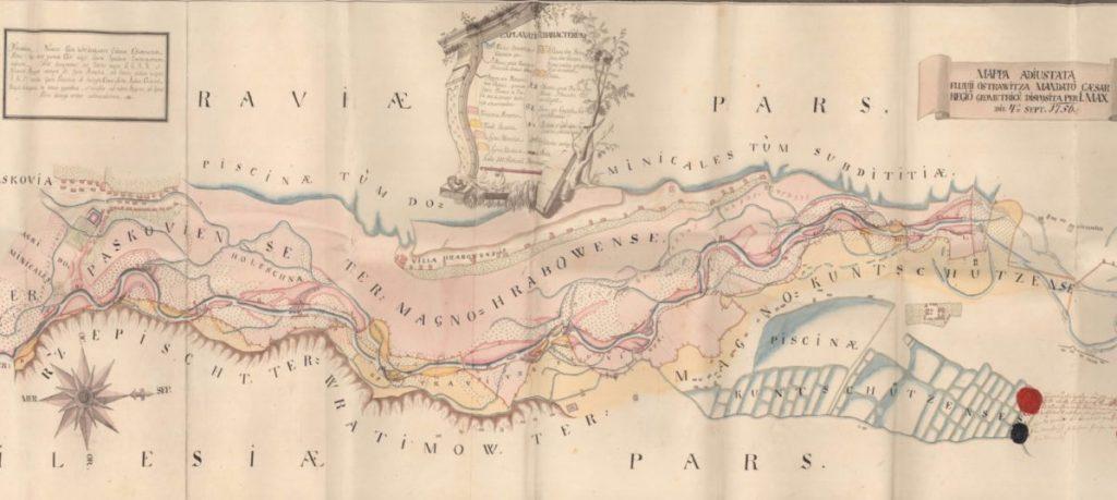 Mapa Hrabové 1756