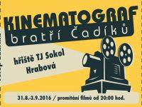 Kinematograf bratří Čadíků 31.8.-3.9.2016