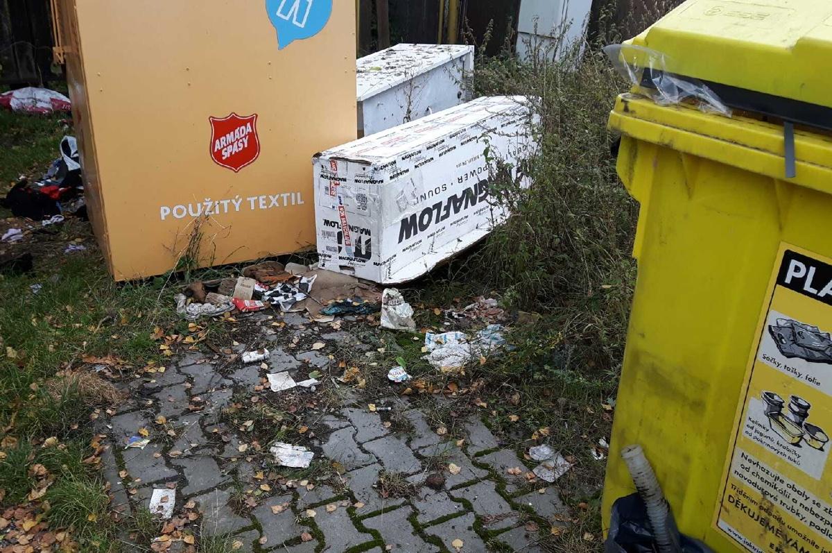 Vývoz odpadu, přistavení kontejnerů – 14.-16.10.2019
