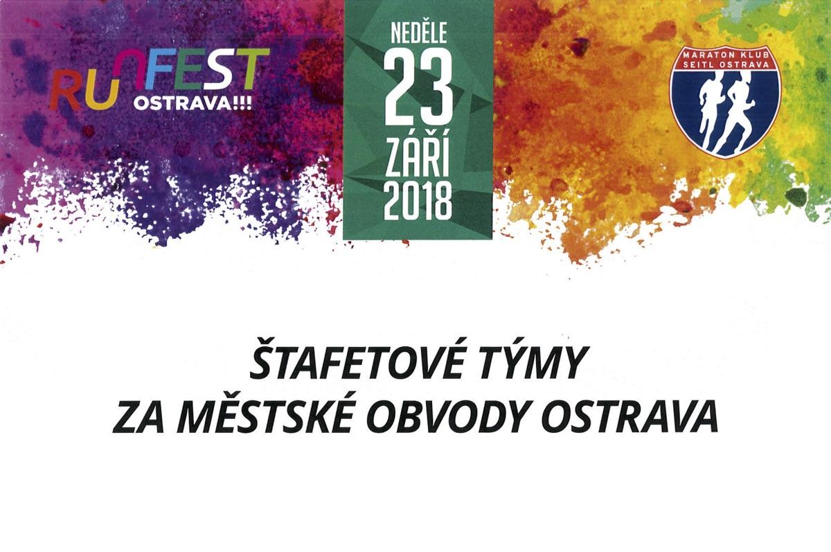 Štafetové týmy za městské obvody Ostrava