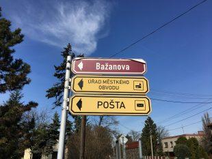 Výměna značení ulic avýznamných míst