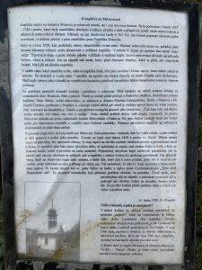 Popisný text u kapličky