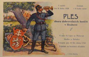 Pozvánka na hasičský ples z roku 1928, Petr Žižka