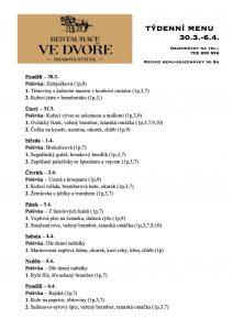 Obědové menu 30.3.-6.4. 2020