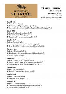 Obědové menu - 23.-30.3. 2020