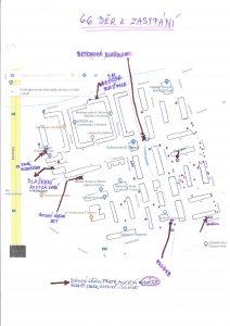 Mapka námi zpracována a předána obecnímu úřadu.