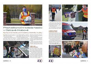 Předvelikonoční koleda hasičů v Ostravě-Hrabové