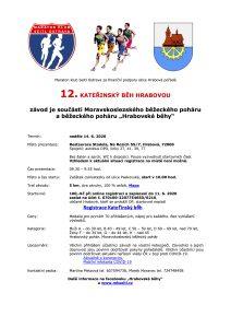 Plakátek akce: Kateřinský běh