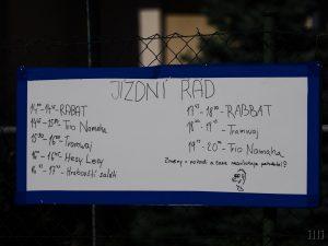 """Jízdní řád koncertu """"Hrajeme pro tramvaj"""", foto: Ilona a Libor Hromádkovi"""