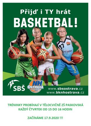 Kroužek vZŠ Hrabová: Basketbalový klub NH Ostrava