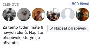 Dne 18. října měla facebooková skupina přesně 1800 členů