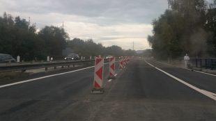Po dálnici D56 přes nově opravený most