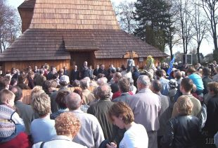 (FOTO) Před 16 lety proběhlo slavnostní svěcení obnoveného kostela sv.Kateřiny