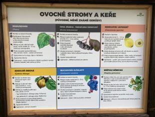 (FOTO) Novou školní zahradu nyní zdobí další informační tabule
