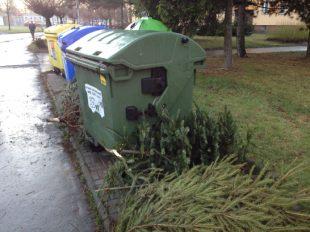 OZO Ostrava: Svoz vánočních stromků