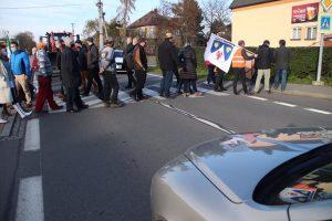 Protest v Žabni   Zdroj: FB Žabně