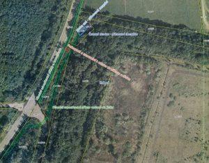 Letecký snímek s popiskem prováděných úkonů
