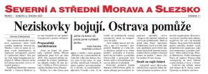 Spolek Smíšek se dostal do sobotního vydání Práva