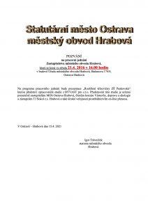 Pozvánka od MOb Ostrava-Hrabová