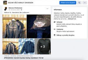 Maruna Cholewowa prodává věci se značkou Harley Davidson | Zdroj [1]