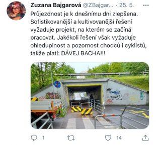 Zuzana Bajgarová: Vzniká projekt na lepší řešení bezpečnosti podchodu uŠídlovce