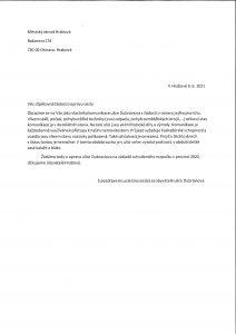 Opětovná žádost o opravu cesty (16.6. 2021)
