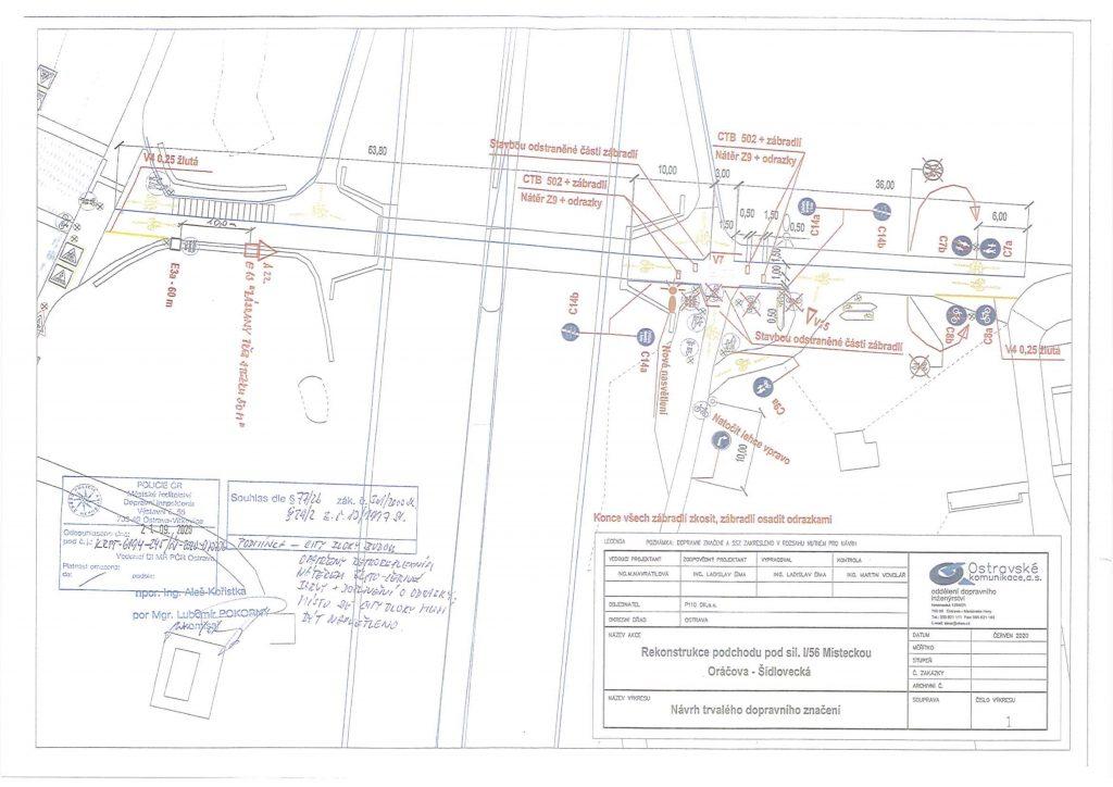 Projekt dopravního značení